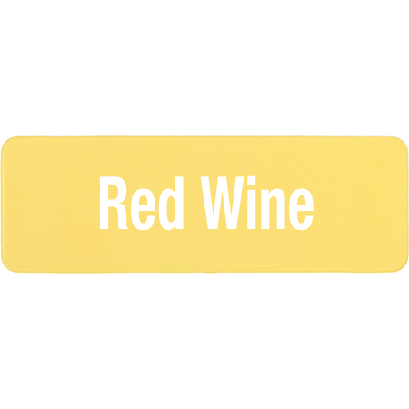 PLQ30404 - PLAQUE GLASS RED WINE YELLOW