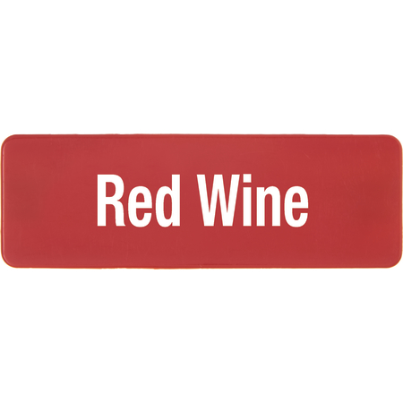 PLQ30405 - PLAQUE GLASS RED WINE RED