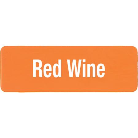 PLQ30424 - **PLAQUE GLASS RED WINE ORANGE
