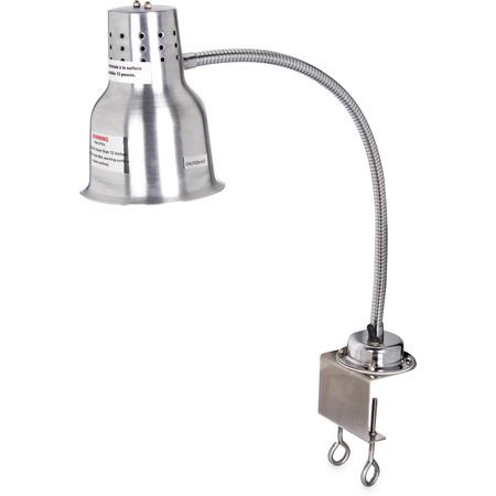 "HL8185C00 - FlexiGlow™ Single Arm Heat Lamp with Clamp 24"" - Aluminum"