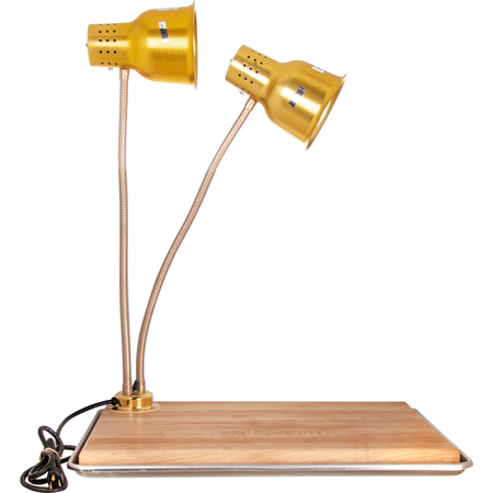 "HL8285GB21 - FlexiGlow™ Dual Arm Heat Lamp with Board & Pan 24"" - Gold"