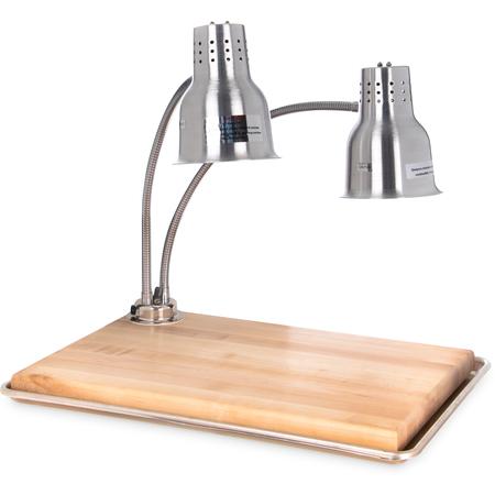 "HL8285B00 - FlexiGlow™ Dual Arm Heat Lamp with Board & Pan 24"" - Aluminum"