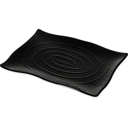 4452003 - Terra™ Rectangular Textured Platter 13.5 x 9.25 - Black