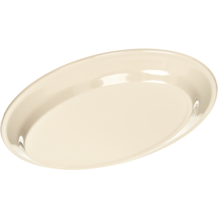 "ARR12025 - Melamine Oval Platter Tray 12"" x 8.5"" - Tan"