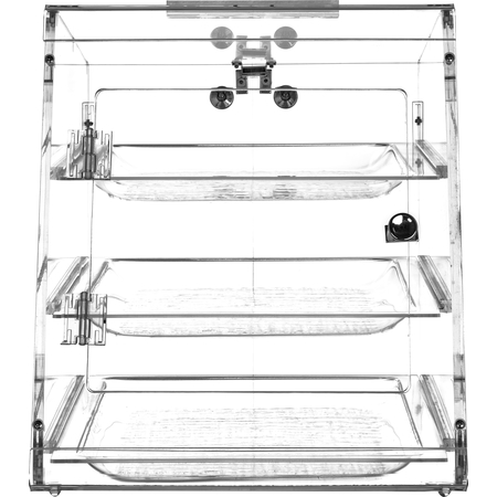 SPD303KD07 - Three Tray, Self Serve Front And Back Door (Unassembled) - Clear