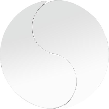 "SMTD2423 - MirAcryl™ Teardrop Tray 23-1/2"" - Mirrored"