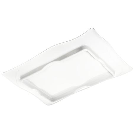 4452402 - Terra™ Rectangular Textured Platter 18 x 12 - White