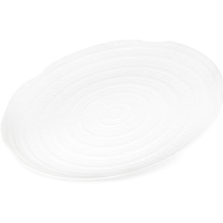 """4451802 - Terra™ Round Textured Platter 18"""" - White"""