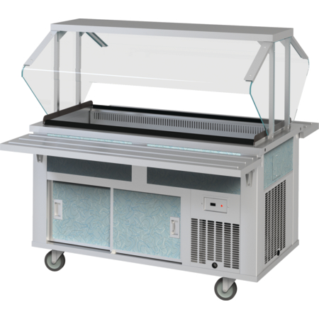 "DXP6CB - DineXpress® Cool Breeze Cold Food Counter - 6 Well 88"" L x 28"" W x 36"" H - Stainless Steel"