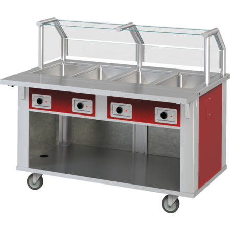 "DXP3HF - DineXpress® Hot Food Counter - 3 Well 49"" L x 30"" W x 36"" H - Stainless Steel"