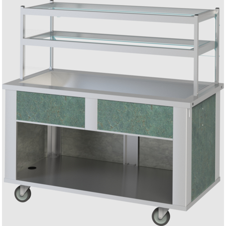 "DXP2CI - DineXpress® Ice Bath Cold Food Counter - 2 Well 35"" L x 30"" W x 36"" H - Stainless Steel"