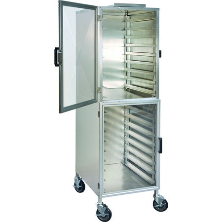 DXPER18R - Dinex® Enclosed Rack Display Cabinet - Right-Hinged - Aluminum