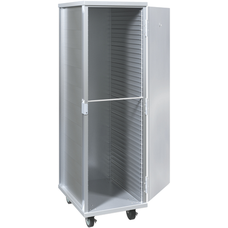 "DXP936 - Dinex® Aluminum Transport Cabinet 21"" x 27 3/8"" x 63 1/4"" - Aluminum"