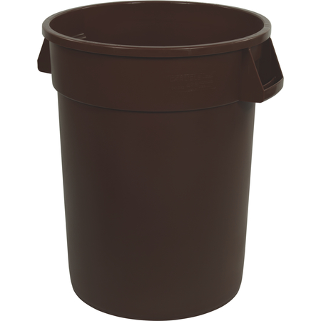 34102001 - Bronco™ Round Waste Bin Trash Container 20 Gallon - Brown