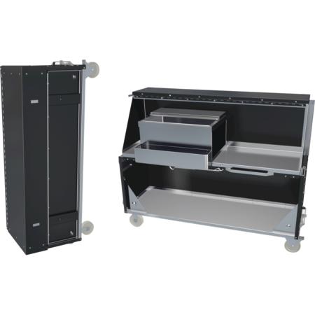 "DXPPB524IBWMW - Ice Chest Portable Bar 20.16"" x 62.5"" x 47"" - Manhattan Walnut"