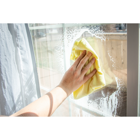 """3633404 - Terry Microfiber Cleaning Cloth 16"""" x 16"""" - Yellow"""