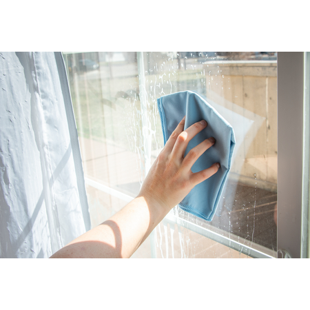 "3633314 - Flo-Pac® Microfiber Fine Polishing Cloth 16"" x 16"" - Blue"