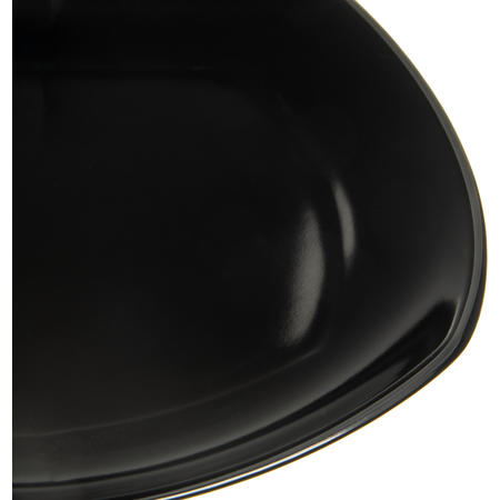 "4330603 - Melamine Upturned Corner Medium Square Plate 9.5"" - Black"