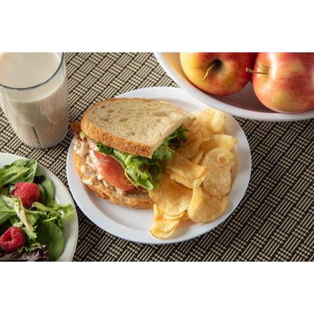 "KL20102 - Kingline™ Melamine Sandwich Plate 7.25"" - White"