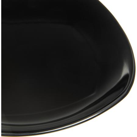 "4330803 - Melamine Upturned Corner Small Square Plate 7.75"" - Black"