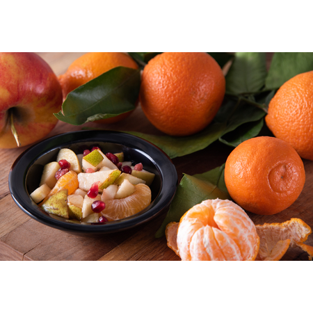 KL80503 - Kingline™ Melamine Rimmed Fruit Bowl 4.75 oz - Black
