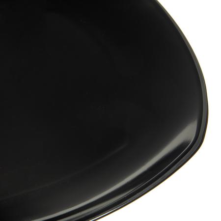 "4330403 - Melamine Upturned Corner Square Plate 11.5"" - Black"