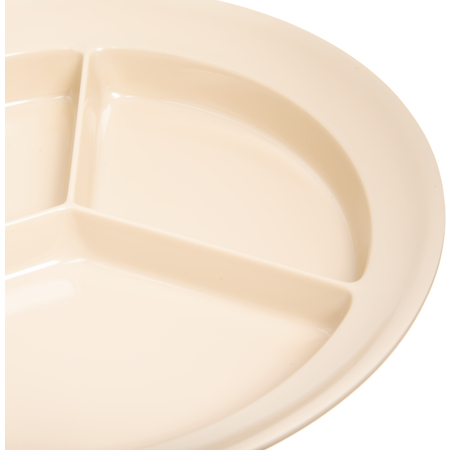 "KL20325 - Kingline™ Melamine 3-Compartment Deep Plate 8.75"" - Tan"