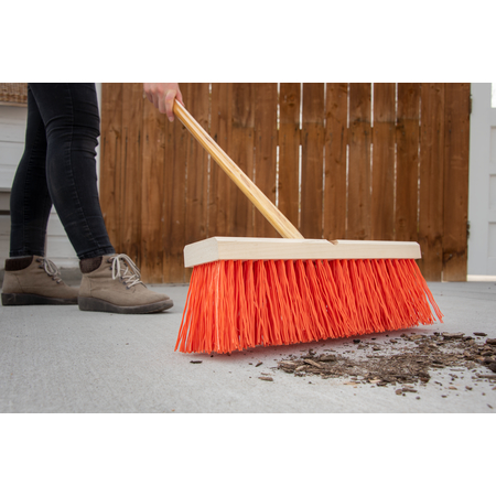 "36111824 - Flo-Pac® 18"" Heavy Polypropylene Sweep 18"" - Orange"