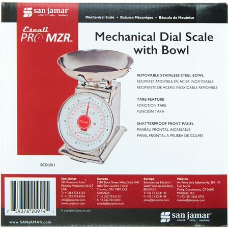 SCDLB11 - DIAL SCALE WITH BOWL 11 LB / 5 KG.