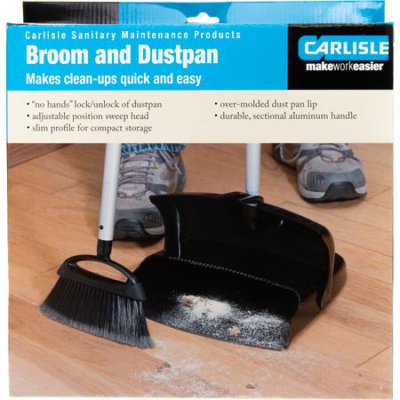 36141603 - DuraPan™ Upright Dust Pan & Broom - Black