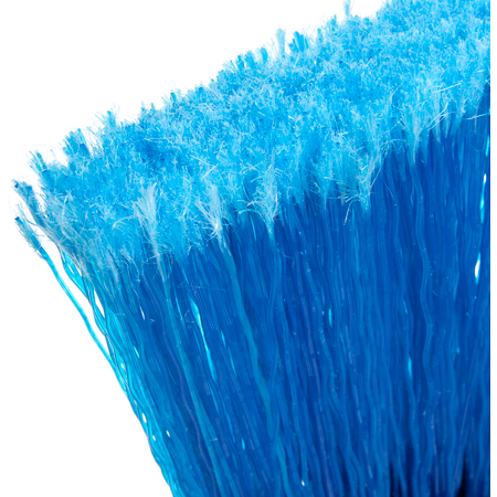 """3687314 - Flo-Pac® Wide Duo Sweep® Light Industrial Head (only) Broom 4"""" Bristle Trim - Blue"""
