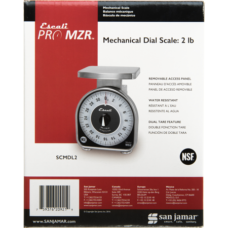 SCMDL2 - NSF LISTED MS-SERIES DIAL SCALE 2 LB / 32 OZ