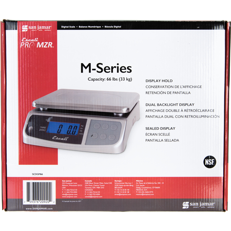 SCDGM66 - NSF LISTED M-SERIES DIGITAL MULTIFUNCTIONAL SCALE