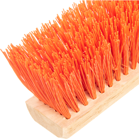 "3610762424 - Flo-Pac® Heavy Bristle Juno Style Push Broom Head (Handle Sold Separately) 24"" - Orange"