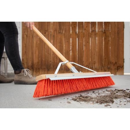 "36952424 - Flo-Pac® Polypropylene Sweep With Steel Scraper Blade 24"" - Orange"