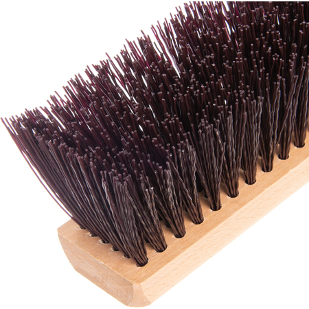 """4520201 - Flo-Pac® Crimped Polypropylene Sweep 24"""" - Maroon"""