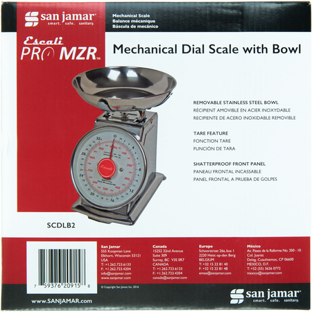 SCDLB2 - DIAL SCALE WITH BOWL 2 LB / 1 KG.