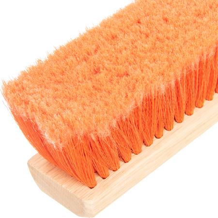 """4501424 - Flagged Bristle Hardwood Push Broom Head (Handle Sold Separately) 24"""" - Orange"""