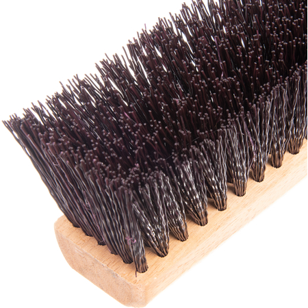 """4520401 - Flo-Pac® Crimped Polypropylene Sweep 36"""" - Maroon"""
