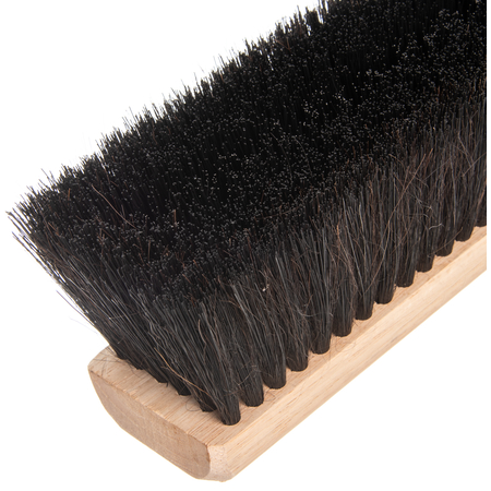 "360241803 - Flo-Pac® Horsehair/Polypropylene Sweep With Wire Center 18"" - Black"