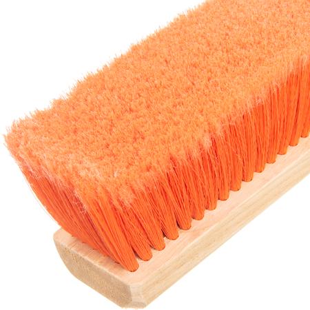 """4501324 - Flagged Bristle Hardwood Push Broom Head (Handle Sold Separately) 18"""" - Orange"""