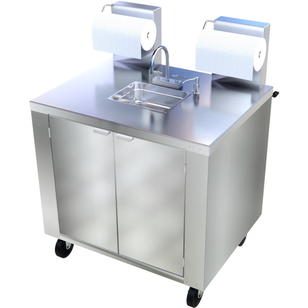 DXPL050114457A - Mobile Hand Washing Station - Stainless Steel
