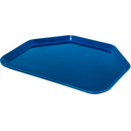 "1713FG014 - Glasteel™ Fiberglass Tray Trapezoid 18"" x 14"" - Cobalt Blue"