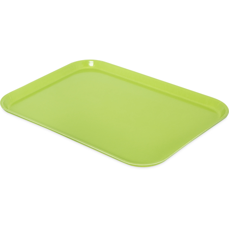 "1612FG009 - Glasteel™ Solid Rectangular Tray 16.4"" x 12"" - Lime"