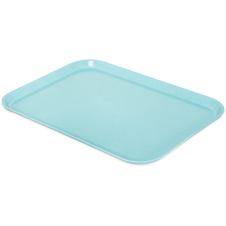 "1612FG013 - Glasteel™ Solid Rectangular Tray 16.4"" x 12"" - Ice Blue"