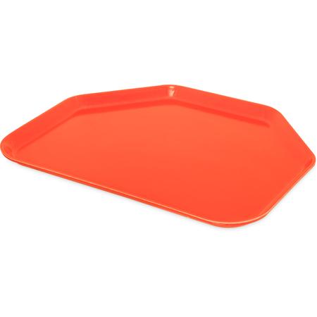"1713FG018 - Glasteel™ Fiberglass Tray Trapezoid 18"" x 14"" - Orange"