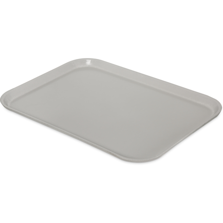 "1612FG002 - Glasteel™ Solid Rectangular Tray 16.4"" x 12"" - Smoke Gray"