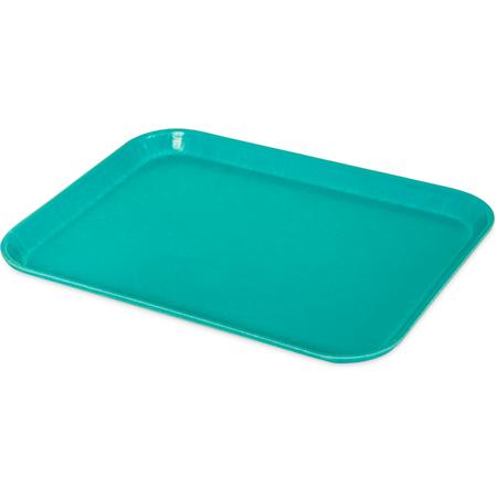 "1410FG011 - Glasteel™ Solid Rectangular Tray 13.75"" x 10.6"" - Turquoise"