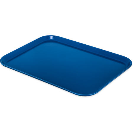"1612FG014 - Glasteel™ Solid Rectangular Tray 16.4"" x 12"" - Cobalt Blue"