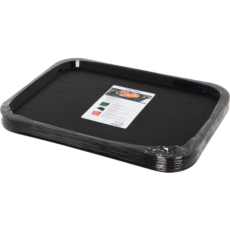 "CT1216-8103 - Cafe® Fast Food Cafeteria Tray 12"" x 16"" - Cash & Carry (6/pk) - Black"